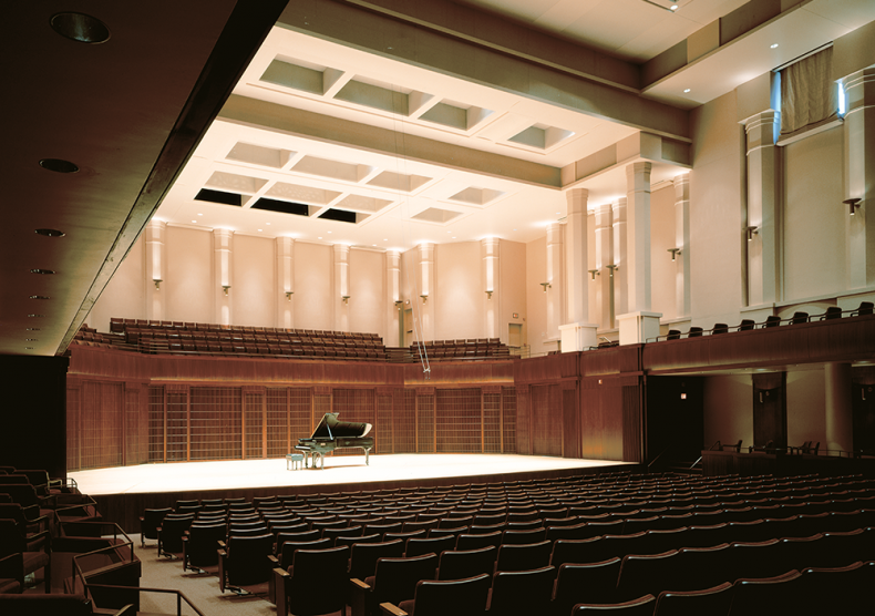 Audience view of Stude Concert Hall