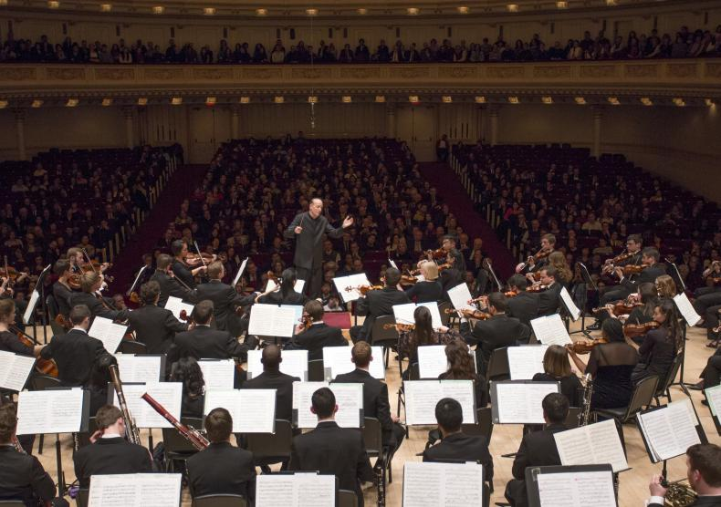 Shepherd School Symphony Orchestra debut performance at Carnegie Hall, Winter 2014